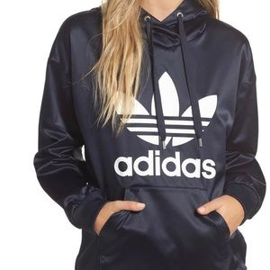 Adidas Navy Trefoil Hoodie